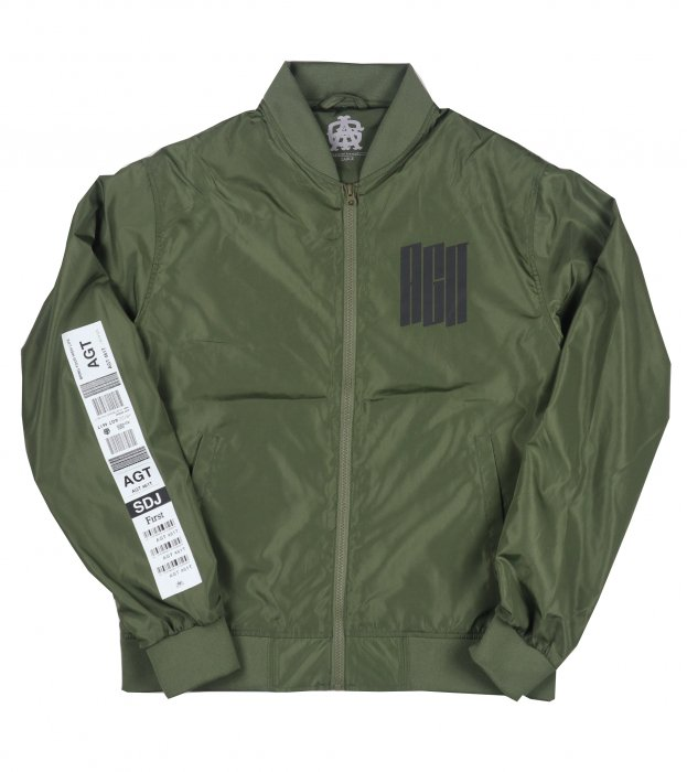 AGIT Luggage Tag Bomber Jacket(Olive)