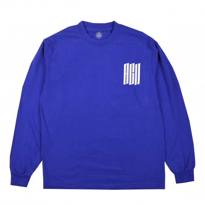 AGIT Urban Logo L/S Tee(Royal×White)