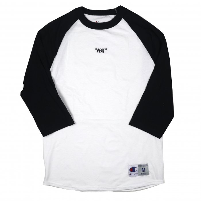 <img class='new_mark_img1' src='//img.shop-pro.jp/img/new/icons34.gif' style='border:none;display:inline;margin:0px;padding:0px;width:auto;' />AGIT Raglan Tee(White×Navy)