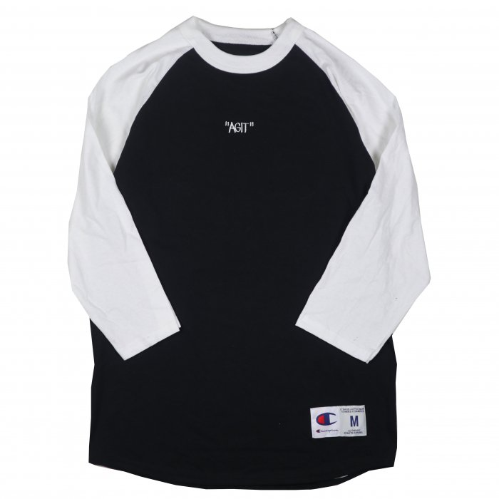 <img class='new_mark_img1' src='//img.shop-pro.jp/img/new/icons34.gif' style='border:none;display:inline;margin:0px;padding:0px;width:auto;' />AGIT Raglan Tee(Black×White)