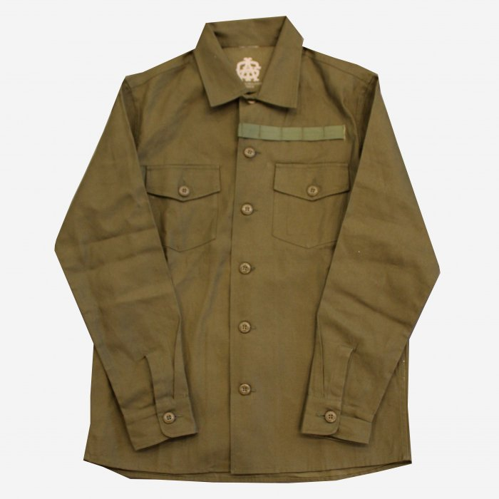 <img class='new_mark_img1' src='//img.shop-pro.jp/img/new/icons34.gif' style='border:none;display:inline;margin:0px;padding:0px;width:auto;' />AGIT Flight Schedule Shirt Jacket(Olive)