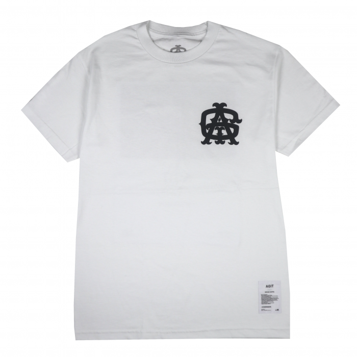 AGIT Huge Tag Tee(White×Black)