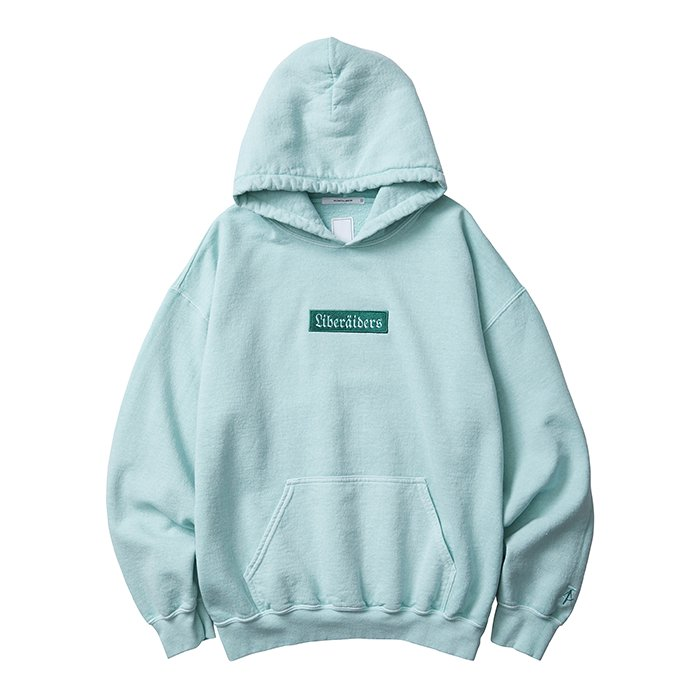 Liberaders GERMAN LOGO OVERDYED PULLOVER HOODIE (Mint)