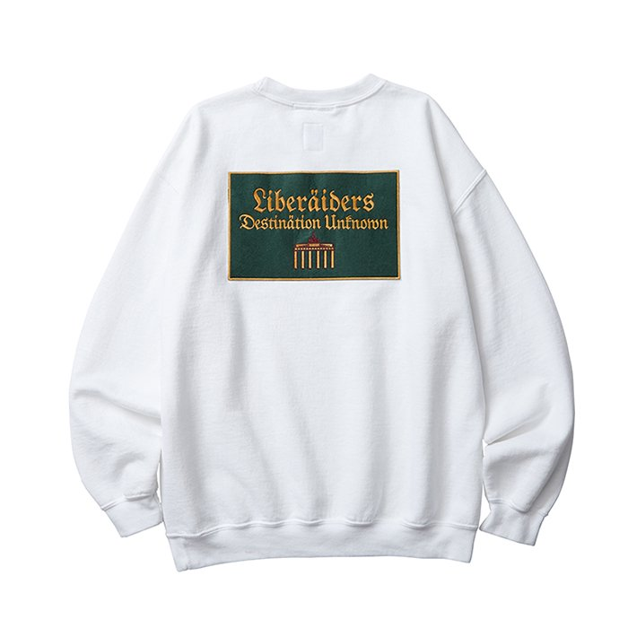 <img class='new_mark_img1' src='//img.shop-pro.jp/img/new/icons47.gif' style='border:none;display:inline;margin:0px;padding:0px;width:auto;' />Liberaders QUADRIGA SWEATSHIRT(White)
