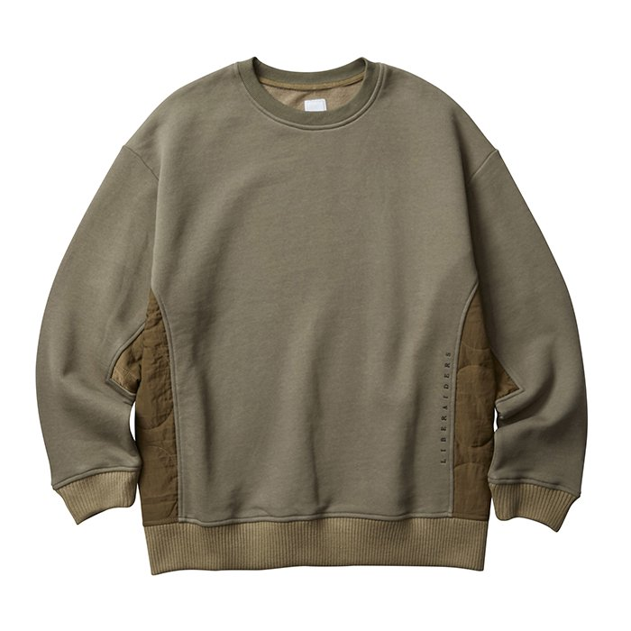 <img class='new_mark_img1' src='//img.shop-pro.jp/img/new/icons1.gif' style='border:none;display:inline;margin:0px;padding:0px;width:auto;' />Liberaders SIDE QUILTED SWEATSHIRT(Olive)