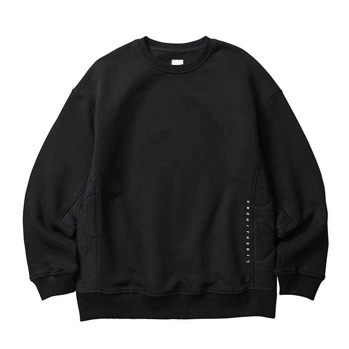 <img class='new_mark_img1' src='//img.shop-pro.jp/img/new/icons1.gif' style='border:none;display:inline;margin:0px;padding:0px;width:auto;' />Liberaders SIDE QUILTED SWEATSHIRT(Black)