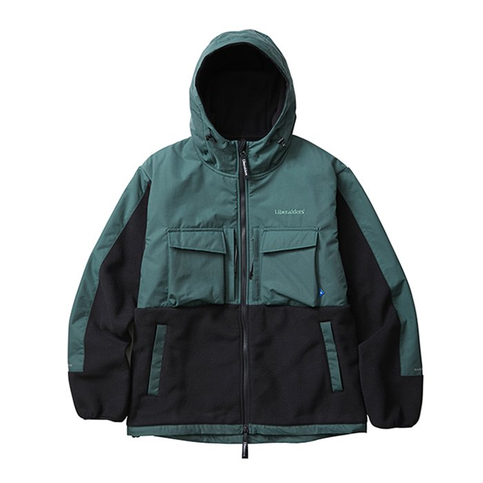 <img class='new_mark_img1' src='//img.shop-pro.jp/img/new/icons47.gif' style='border:none;display:inline;margin:0px;padding:0px;width:auto;' />Liberaiders POLARTEC FLEECE JKT(Green)