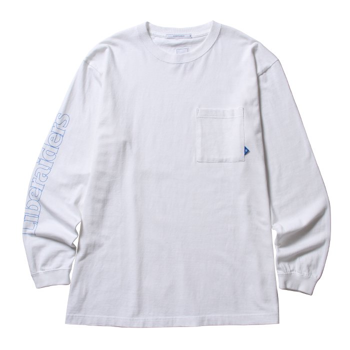 <img class='new_mark_img1' src='//img.shop-pro.jp/img/new/icons1.gif' style='border:none;display:inline;margin:0px;padding:0px;width:auto;' />Liberaiders SLEEVE OG LOGO L/S TEE (White)