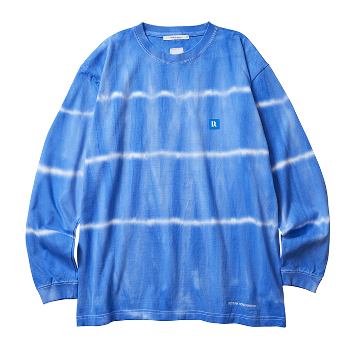 <img class='new_mark_img1' src='//img.shop-pro.jp/img/new/icons1.gif' style='border:none;display:inline;margin:0px;padding:0px;width:auto;' />Liberaiders TYE DYE STRIPED L/S TEE (Blue)