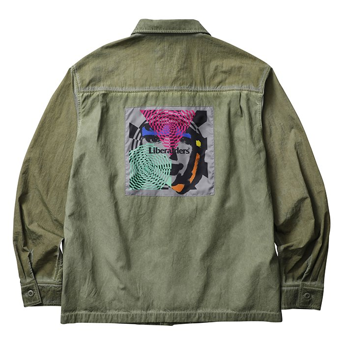 <img class='new_mark_img1' src='//img.shop-pro.jp/img/new/icons1.gif' style='border:none;display:inline;margin:0px;padding:0px;width:auto;' />Liberaiders PSYCHEDELIC BDU SHIRT (Olive)