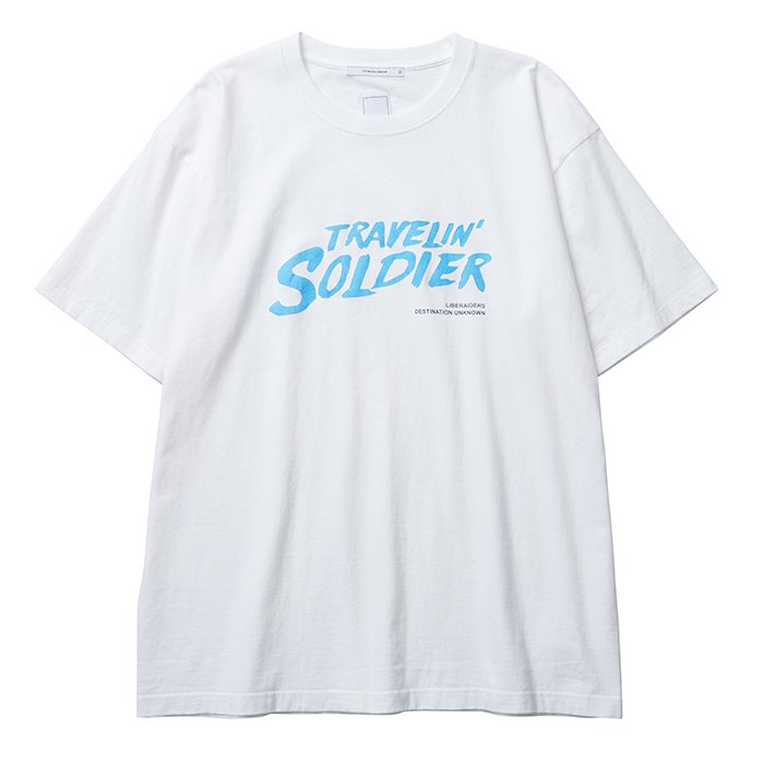 <img class='new_mark_img1' src='//img.shop-pro.jp/img/new/icons47.gif' style='border:none;display:inline;margin:0px;padding:0px;width:auto;' />Liberaiders TRAVELIN' SOLDIER TEE(White)