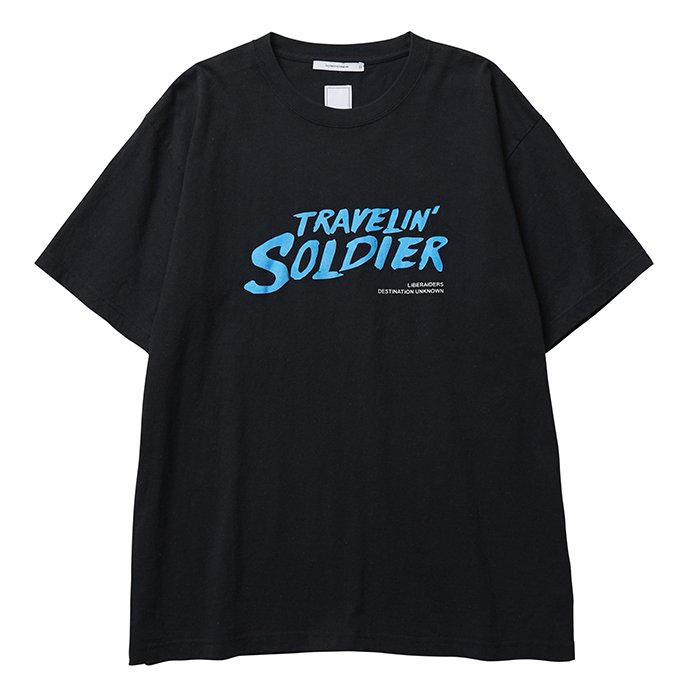 <img class='new_mark_img1' src='//img.shop-pro.jp/img/new/icons1.gif' style='border:none;display:inline;margin:0px;padding:0px;width:auto;' />Liberaiders TRAVELIN' SOLDIER TEE(Black)