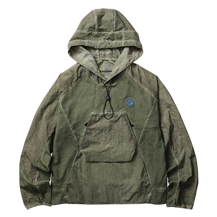 <img class='new_mark_img1' src='//img.shop-pro.jp/img/new/icons1.gif' style='border:none;display:inline;margin:0px;padding:0px;width:auto;' />Liberaiders OVERDYED NYLON SLEEVES HOODIE (Olive)