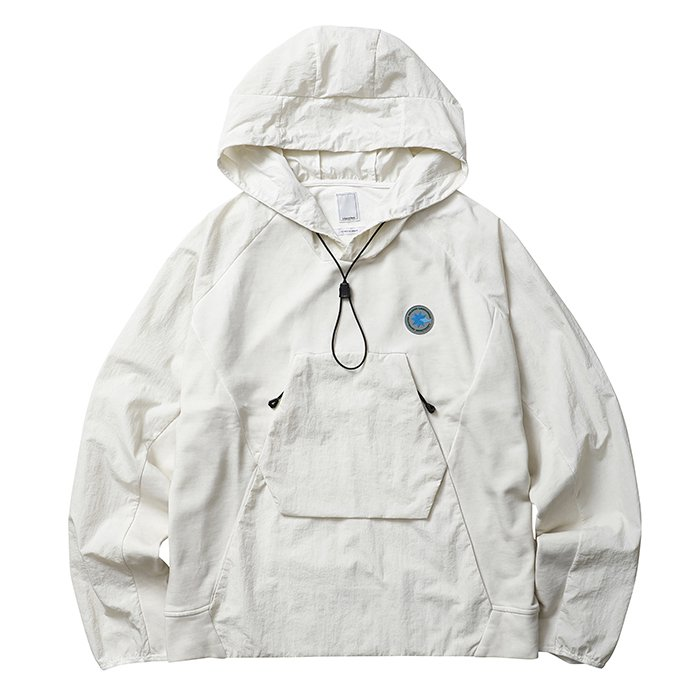 <img class='new_mark_img1' src='//img.shop-pro.jp/img/new/icons1.gif' style='border:none;display:inline;margin:0px;padding:0px;width:auto;' />Liberaiders OVERDYED NYLON SLEEVES HOODIE (White)
