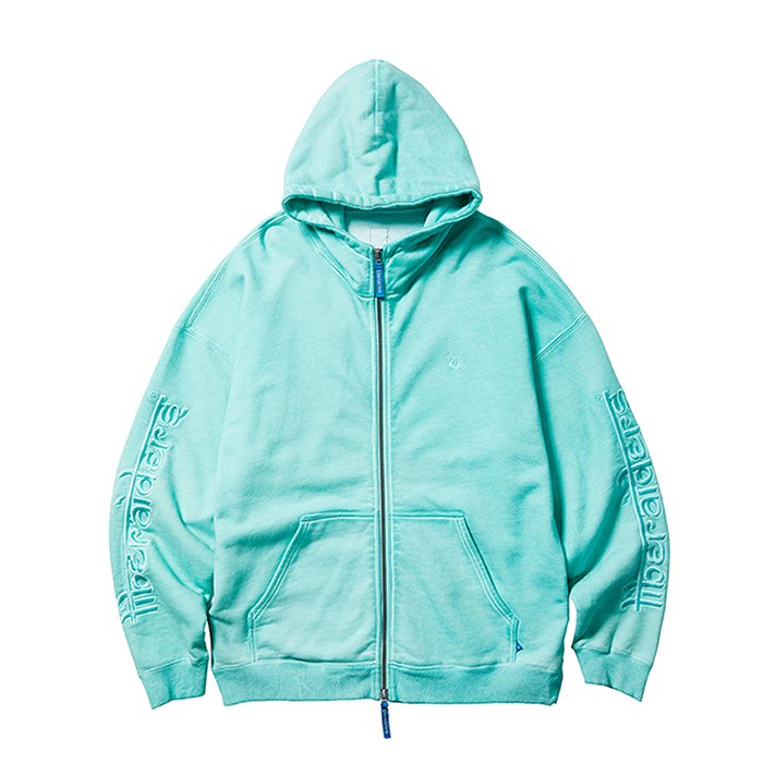 <img class='new_mark_img1' src='https://img.shop-pro.jp/img/new/icons1.gif' style='border:none;display:inline;margin:0px;padding:0px;width:auto;' />Liberaiders OVERDYED ZIP HOODIE (Mint)