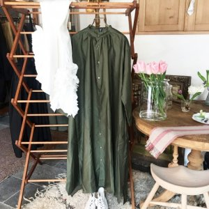 Belle BOL DRESS -chameau et olive-
