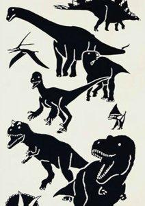 「恐竜」 てぬぐい 梨園染