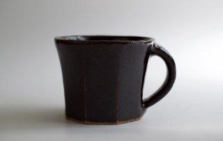 黒釉面取マグカップ