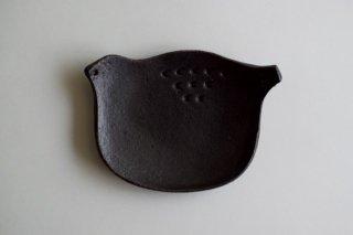 とりさんの豆皿 黒