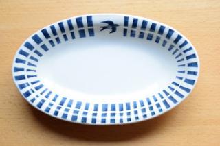 ブルーライン オーバル小鉢