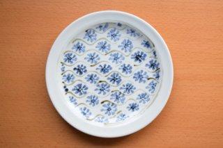 宝山窯 古紋丸皿