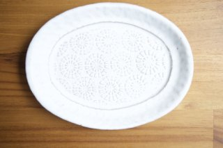 楕円リム皿 タンポポ