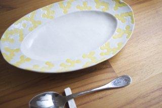 ミモザ リム楕円皿