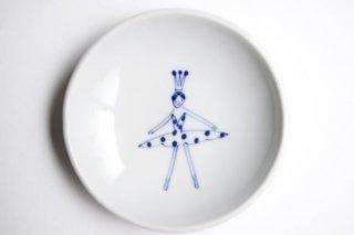 丸小皿 バレリーナ 水玉