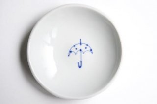 丸小皿 傘水玉