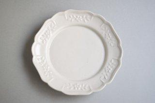 花形リムレリーフ皿 6寸