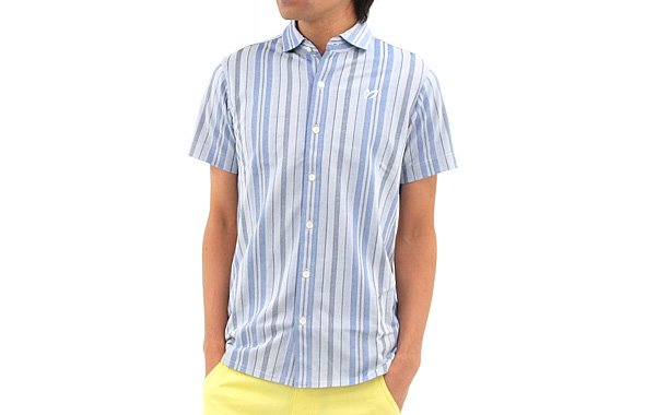 マスターバニー MB 涼しげstripeボタンダウンシャツ