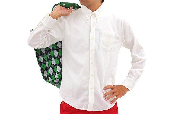 エドウィンゴルフ EW ボタンダウンカラー胸ポケ長袖ポロ