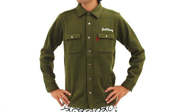 ジャックバニー 長袖トップス JB 裏起毛♪シンプル暖かシャツ