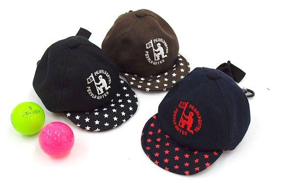 パーリーゲイツ PG Armyロゴ刺繍キャップ型ボールポーチ