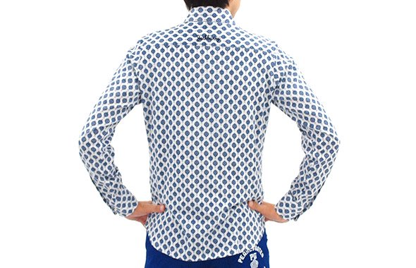 JB ペイズリー柄長袖シャツのコーディネート写真