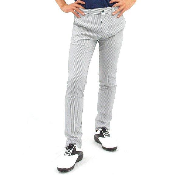キャロウェイ ロングパンツ CA Flexskinストライプ軽量パンツ