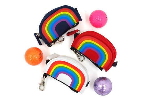 キャロウェイアパレル CA Rainbow柄ボールポーチ