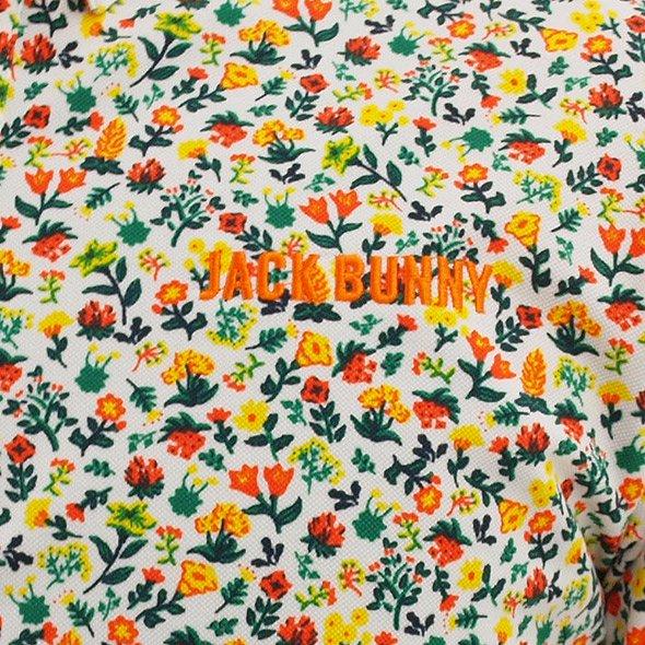 JB 小花柄鹿の子ポロのコーディネート写真