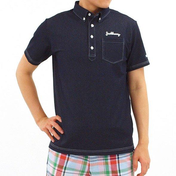 ジャックバニー 半袖トップス JB デニム風柔らか半袖シャツ