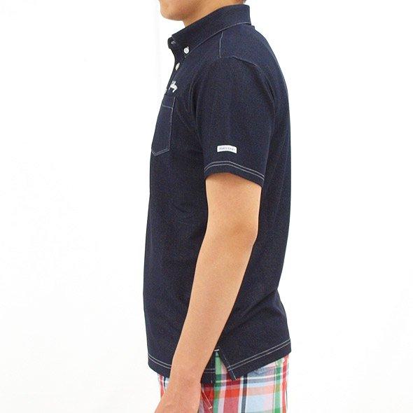 JB デニム風柔らか半袖シャツのコーディネート写真