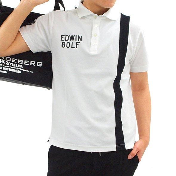 エドウィンゴルフ 半袖トップス EW 高機能◆タテ切替カノコポロ