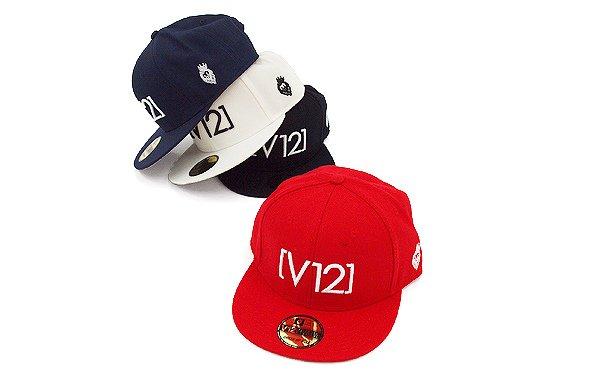 ヴィトゥエルブ ヘッドウェア VI 「V12」シンプル平つばキャップ