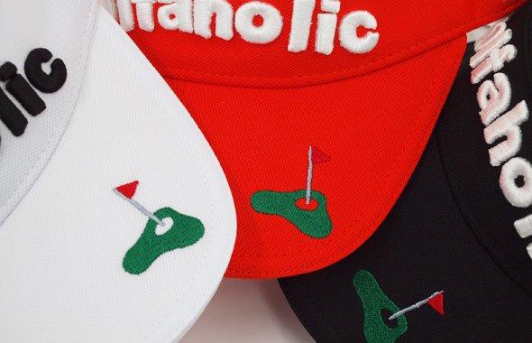 JB golfaholic刺繍ベーシックバイザーのコーディネート写真