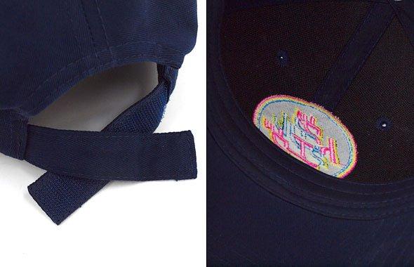VI ワッペン風刺繍◆缶バッチ付キャップのコーディネート写真