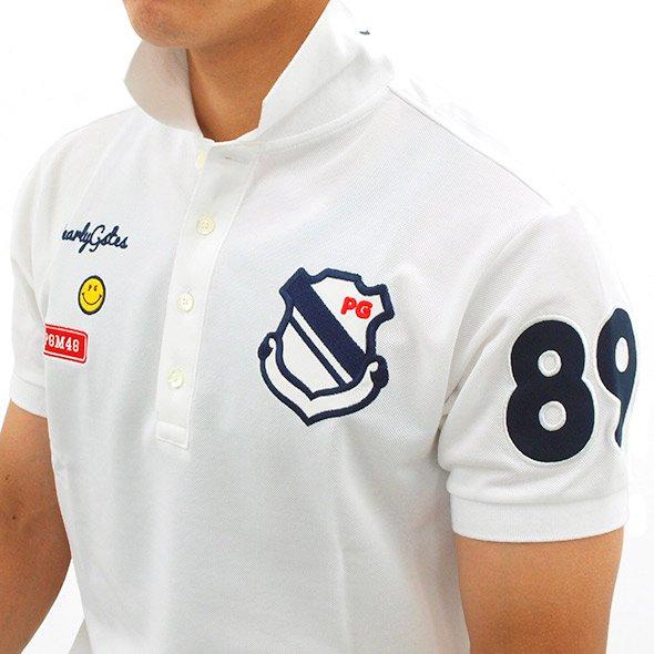 PG ロゴがたくさん♪ワッペンポロのコーディネート写真