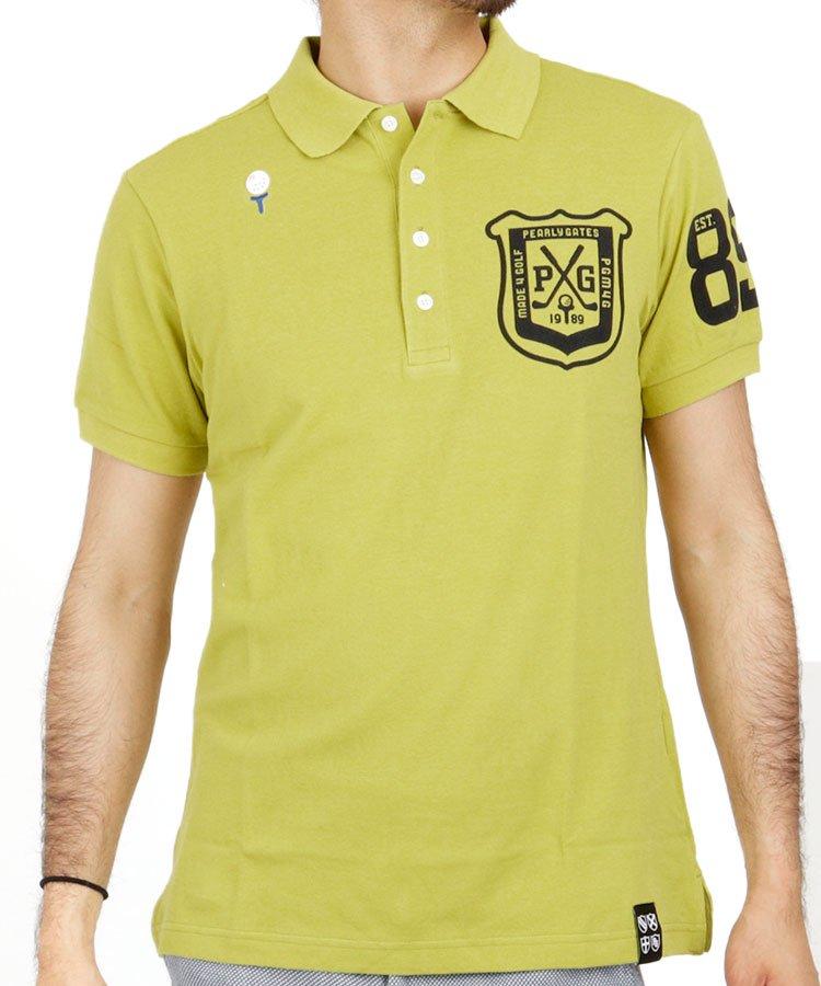 パーリーゲイツ 半袖ポロシャツ・シャツ PG 定番エンブレムプリントポロ