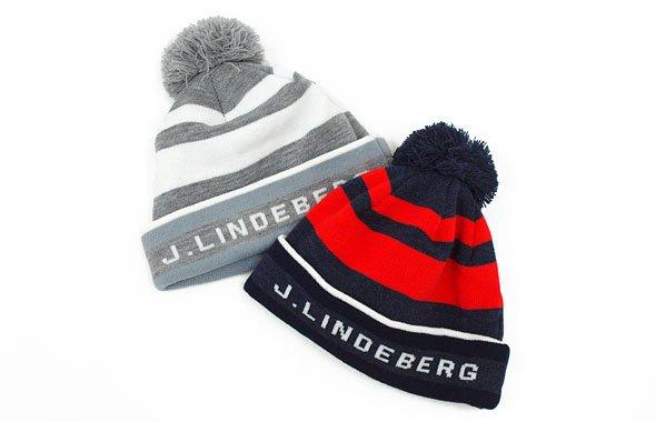 J.LINDEBERG JL 配色Borderぽんぽんニット帽
