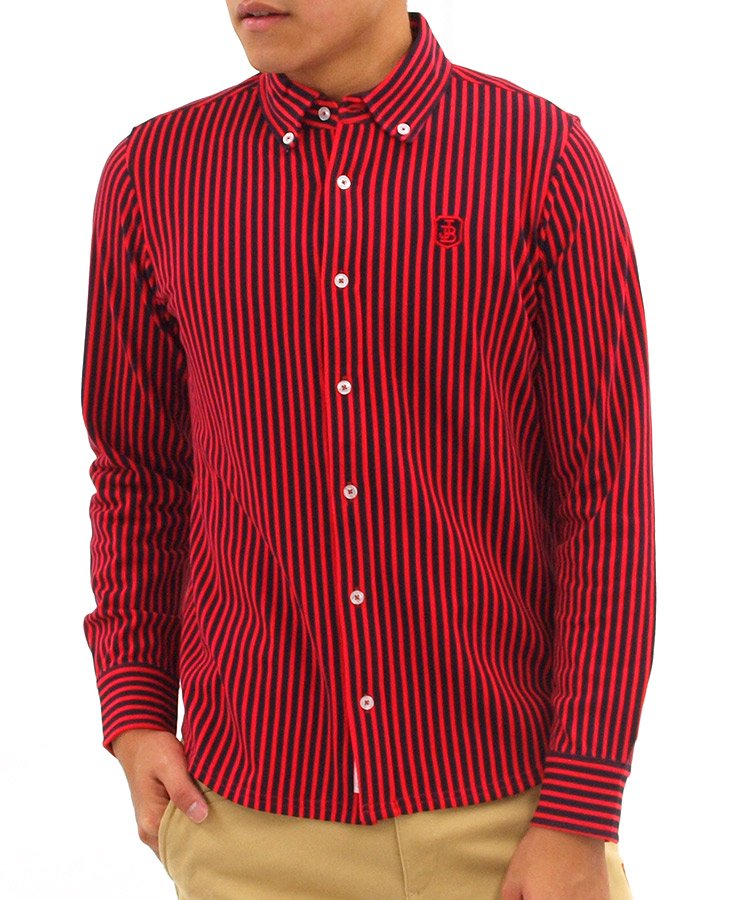 ジャックバニー JB ストライプボタンダウンシャツ