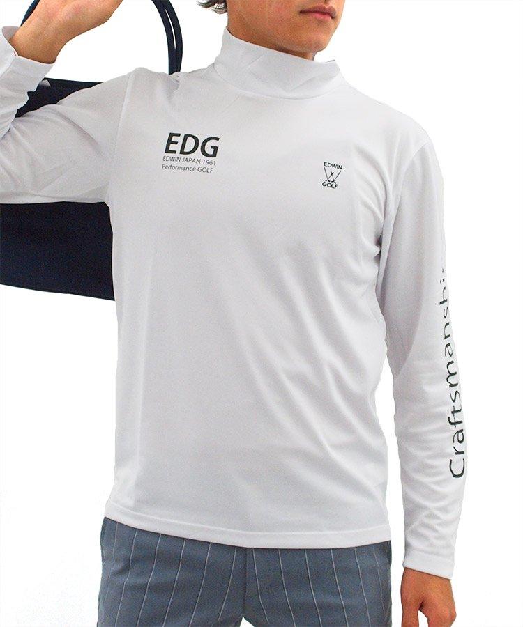 エドウィンゴルフ EW スリーブロゴモックネックインナーホワイト