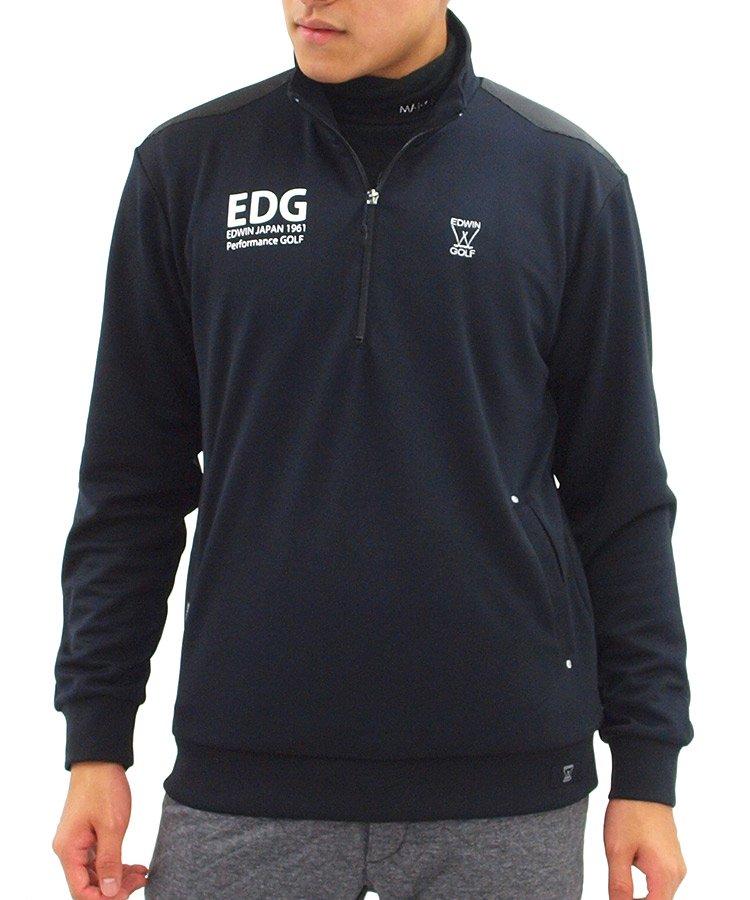 エドウィンゴルフ EW フィールドセンサーハーフZIPジャージーブラック